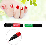 3pcs/6colors Hot Designs Double Nail Polish Pen Nail Art Pen