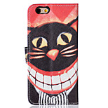Cat Pattern PU Leather Material Phone Case for iPhone 6/6S