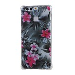 Red Flower Shockproof as TPU soft shell cover Case for Huawei Ascend P9