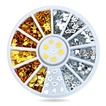 1wheel Gold Silver studs nail decorations-Bijoux pour ongles-Doigt- enAdorable-6cm wheel