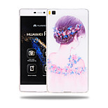 Face Killer Pattern Soft TPU Back Cover Case for Huawei Ascend P8