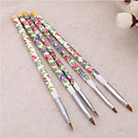 1Set 5Pcs Acrylic UV GEL Nail Art Design Set Liner Painting Dotting Brush Pen Builder for Acrylic