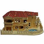Beach House Wood 3D Puzzles Diy Toys