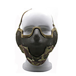 Outdoor Sports Metal Mesh Half Face Military Mask Defensive CS Mask