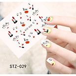 1pcs  Water Transfer Nail Art Stickers Fashion Girl Lips Flower  Butterfly Nail Art Design STZ26-30