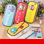 The New Cute Owl Large Capacity Pen Bag Candy Color Pen Bag