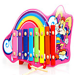 Early Childhood Music Educational Toys/Cute Animal Wooden 8 Tone Music Piano Hand Knock Knock Muyinqin