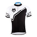 PaladinSport Men 's Short Sleeve Cycling Jersey DX622 Wolf  100% Polyester