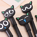 South Korea Stationery Cartoon Cat Neutral Pen(1PC)