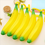1PC  Silica Gel Banana Zero Wallet Silicone Jelly Candy Color Bag Coin Bag