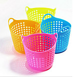 2PCS Creative Home Mini Desktop Multi-Purpose Grid Receive Basket Portable Basket (Random color)