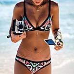 Foreign Trade In Europe And America New Women's Split Bikini Swimwear Swimsuit Geometry