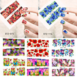 6pcs Mixed Flower Nail Stickers