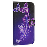 The Butterfly Pattern Luxury PU Leather Wallet Phone Case with Diamond For iPhone 6/6s
