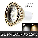 1pcs Ding Yao GU10 9W 1LED COB 400lm Warm White / Cool White Recessed Retrofit Decorative LED Spotlight AC 85-265V
