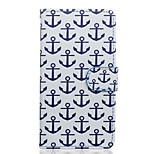 Anchor Pattern PU Leather Full Body Case with Stand for Wiko Rainbow Jam 4G