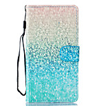 Green Sand Pattern PU Leather Full Body Case with Stand for LG LS770