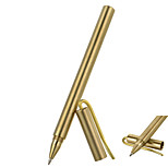 FURA Outdoor Tactical Frosted Surface Brass Gel Pen with Clip - Golden