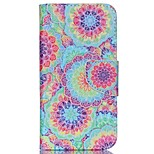 Cross Pattern Stand Leather Phone Case for Wiko Rainbow Up - Vivid Flowers