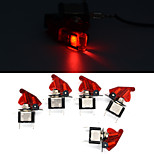 5Pcs 12V 20A Red Cover LED Rocker Toggle Switch SPST ON/OFF Car Truck