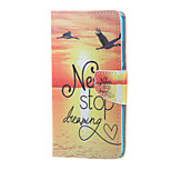 Cross Pattern Leather Wallet Cover Stand Case for Huawei Honor 5X - Never Stop Dreaming