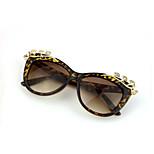 Sunglasses Women's Fashion 100% UV400 Cat-eye Tortoiseshell Sunglasses Full-Rim