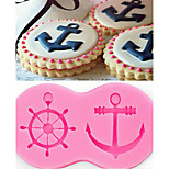 DIY baking mould anchor ship thallium cake of chocolate candy mold liquid silicone mold
