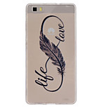 The Feathers 8-Shaped Pattern Ultrathin TPU Soft Back Cover Case for Huawei P8 Lite