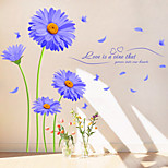 Florals Wall Stickers Plane Wall Stickers,PVC