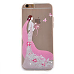 Pink Dress Coloured Drawing Slim TPU Material Phone Case for iPhone 6/6S