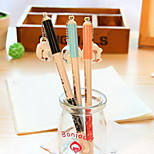 Milk Cup Pendant Pen Cap Black Ink Gel Pen(1 PCS)