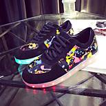 Women's LED Shoes USB charging Fashion Sneakers Outdoor/Athletic/Casual Black