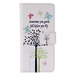 mariposa árbol pintado caja del teléfono de la PU para el iphone5se