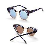 Women's 100% UV400 Round Vintage Mirrored Sunglasses