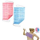 2Pcs Easy Reach Loofa Cloth The All-in-One Full Body Wash Cloth