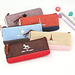 Small Fresh Cotton Fabric Stitching Pencil Case Bag Cotton Bag Creative Time