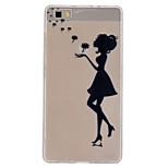 Dandelion's Girl Pattern Ultrathin TPU Soft Back Cover Case for Huawei P8 Lite