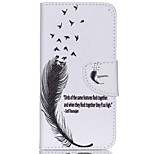 Cross Pattern Leather Card Holder Case for Acer Liquid Jade Z - Feather Pattern