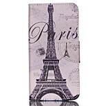 Cross Textured Leather Magnetic Cover for Acer Liquid Z630 Z630S - Paris Eiffel Tower