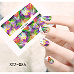 1pcs  Water Transfer Nail Art Stickers Colorful Flower Nail Art Design STZ86-90