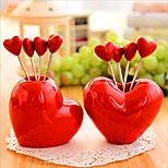 Creative Love Style Snack Fork Fruit Fork Ornament Decoration 5 Forks
