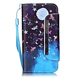 EFORCASE® Moon Painted Lanyard PU Phone Case for iphoneSE/5S/5