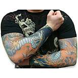 Cool 10pcs Fake Temporary Tattoo Sleeves Body Art Arm Stockings Accessorie