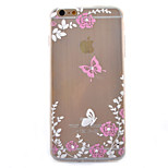 Butterfly Coloured Drawing Slim TPU Material Phone Case for iPhone 6/6S