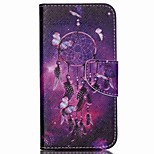 Cross Pattern Leather Stand Cover with Card Slots for Wiko Rainbow Up - Dream Catcher