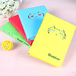 1PC Creative Stationery Hollow Out A Cat Smiling Expression Pocket Notebook Laptop For Graffiti (Style random)