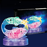 Pisces 12 Constellation Series 3D Puzzles Crystal Blocks DIY Toys Modeling Toys