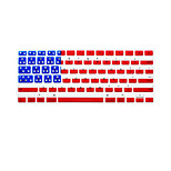 National Flag Pattern English Language Keyboard Cover Silicone Skin for Macbook Air/Macbook Pro 13 15 17 Inch US Version