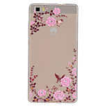 Secret Garden Pattern Ultrathin TPU Soft Back Cover Case for Huawei P8 Lite