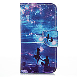 Romantic Seascape PU leather with Stand Case for iPhone5S/SE 4.0